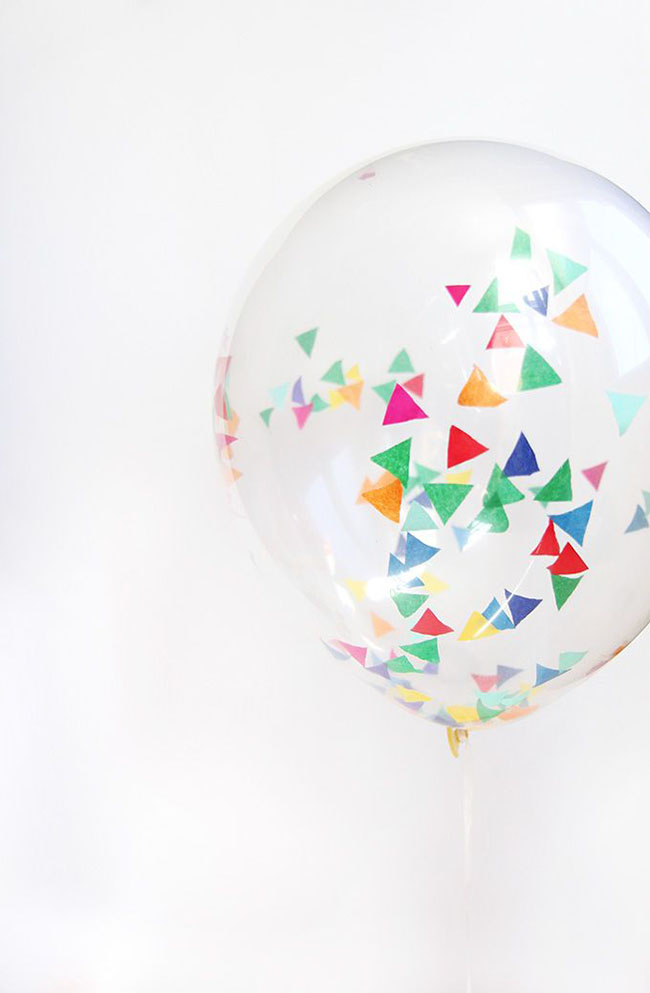 triangle Confetti Balloons
