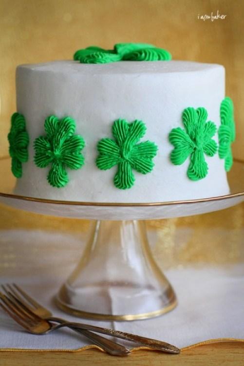 Lovely St. Patricks Day Shamrock cake! -See More Inspiring Shamrock Cakes On The Blog! - B. Lovely Events