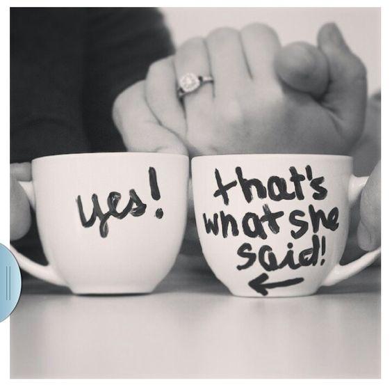 Cute Engagement Annoucement photo