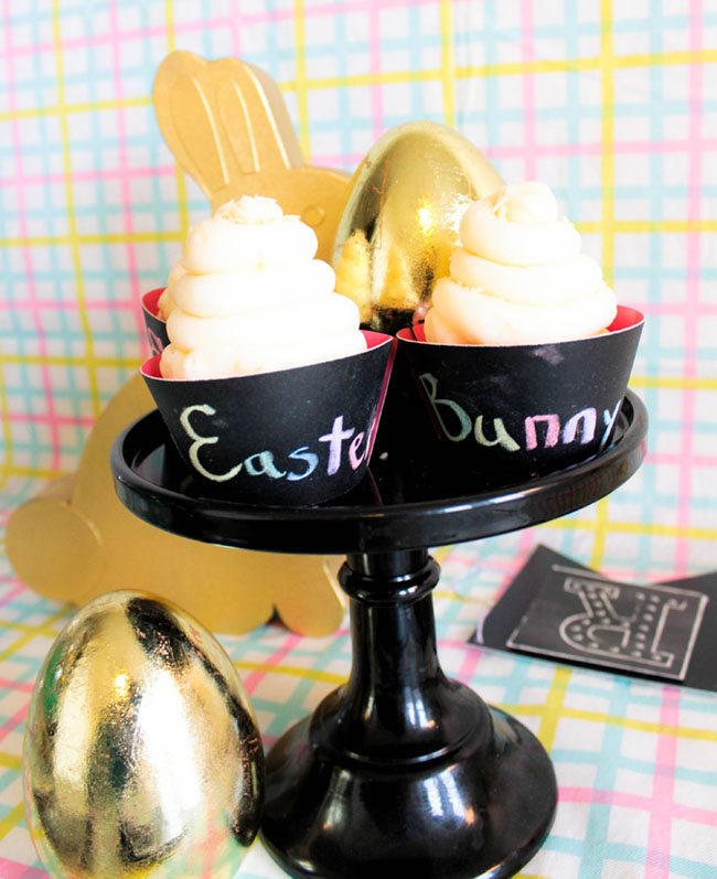 DIY Chalkboard Easter Cupcakes -Learn The How To On B. Lovely Events