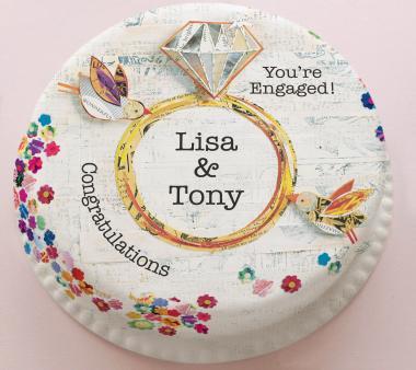 Personalized Engagement Cake