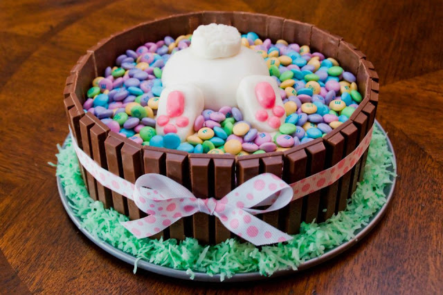 Fun Bunny Butt Cake For Easter! - See More Easter Bunny Butt Ideas On B Lovely Events