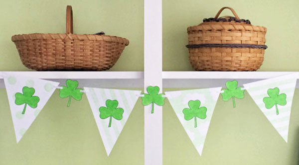 Fun DIY Color Your Own Shamrock St-Patricks-Day-Banner -See More Shamrock Banners & Garlands On The Blog! B. Lovely Events