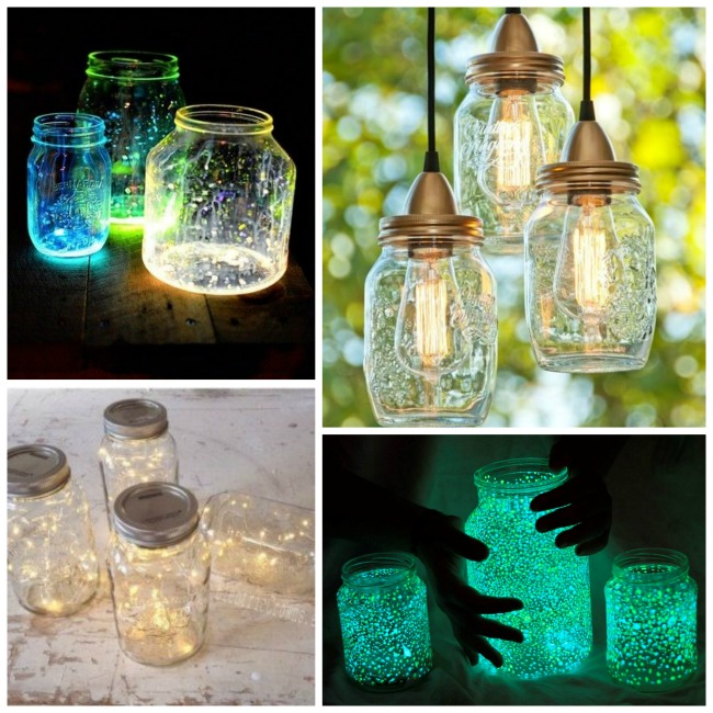 Glowing Mason Jar Outdoor Summer Decorations! - B. Lovely Events