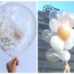 Gold Glitter Balloons- Love these! - B. Lovely Events