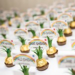 Fun Pineapple Escort Cards With chocolates