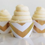 Gold chevron cupcake wrappers- See The new gold cupcake wrappers at B. Lovely Events Shop