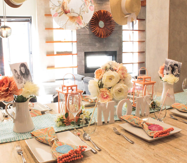 Lovely Blooming Mother's Day Tablescape- So darling! - See How To Put It Together On B. Lovely Events!