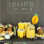 Lovely Pineapple Dessert Bar and ideas!