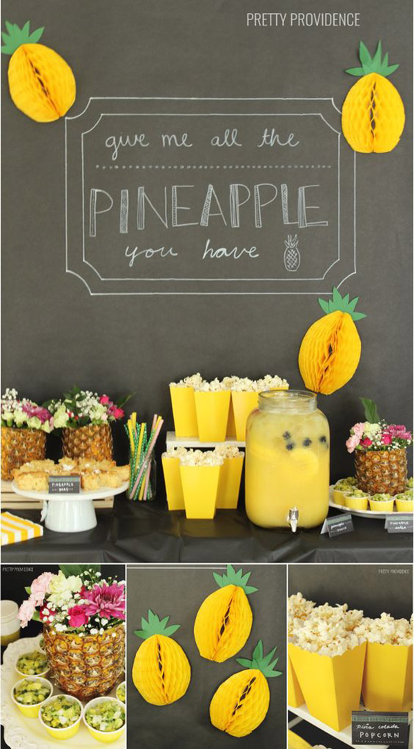 Lovely Pineapple Dessert Bar and ideas! - See More Lovely Pineapple Party Ideas At B. Lovely Events!