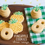 Pineapple cookies 3 ways