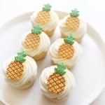 Pineapple Cupcakes and cupcake toppers!