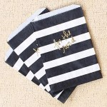 Black and Gold Striped Favor bags - See More Gold Graduation Ideas on B. Lovely Events