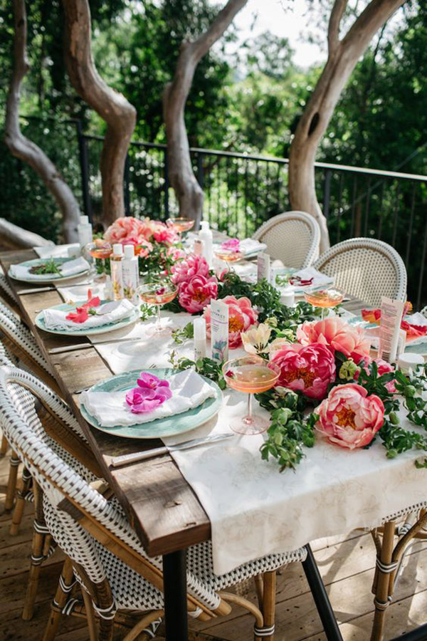 Blooming Garden Party Tablescape