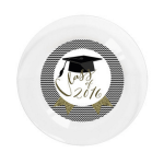 Class of 2016 custom gold glitter graduation plates- See More Gold Graduation Ideas on B. Lovely Events