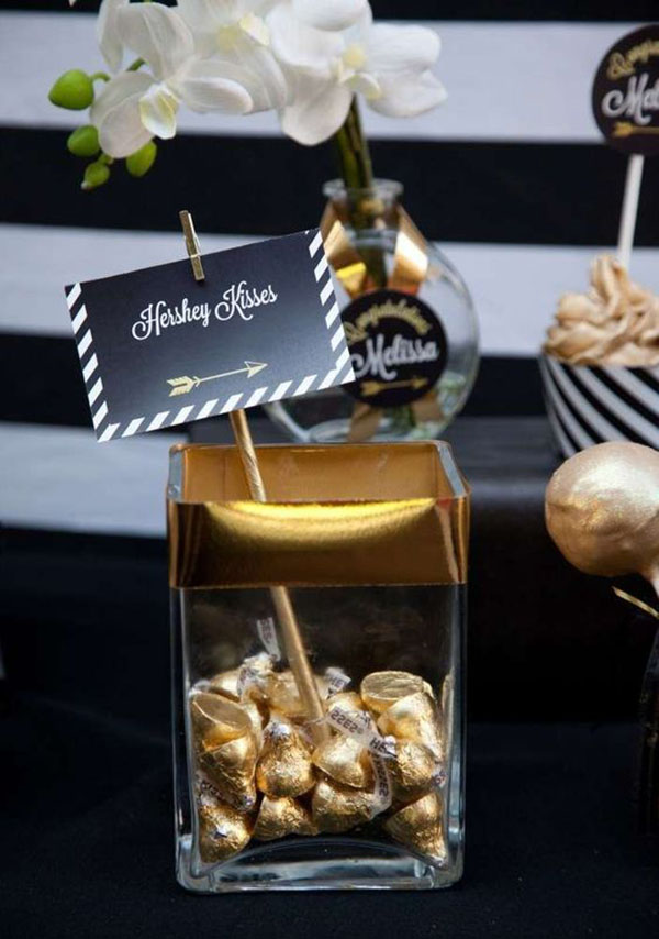 Gold Graduation party favors - See More Gold Graduation Ideas on B. Lovely Events