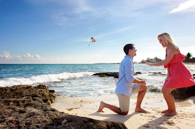 Ryan + Meagen Proposal, Playa Paraiso, Riviera Maya, Mexico.
