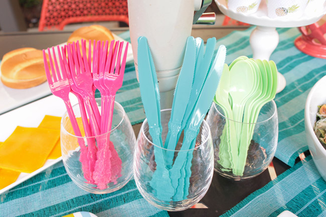 Bright And Colorful Utencils For Summer. - B. Lovely Events