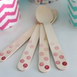 Polka Dot Ice Cream Spoons- See more ice cream party ideas on B. Lovely Events