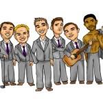 Wedding giveaway groomsmen caricature