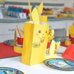 Fun Pikachu Favor Bags! - See more cute Pokemon Party Ideas on B. Lovely Events