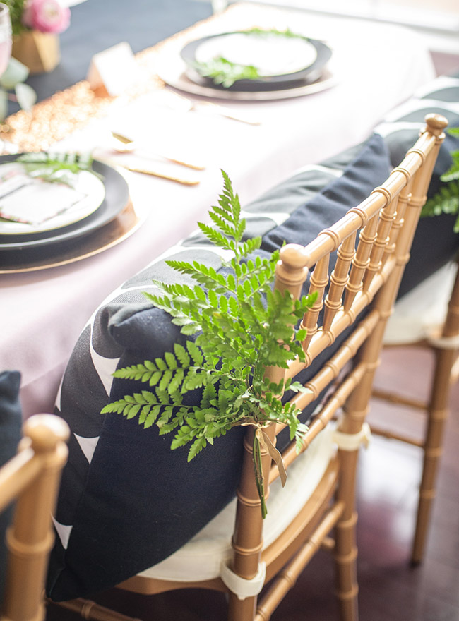 Garden touches on this lovely floral baby shower table