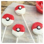 Love these Pokemon Ball Cake pops! - See more cute Pokemon Party Ideas on B. Lovely Events