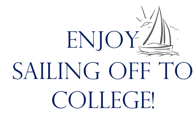 Sailing off to college sign Free printable