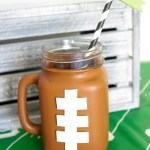 fun-football-mason-jar-mug-diy- See how to make it on B. Lovely Events