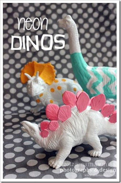 Love These Fun Painted Dinosaurs!