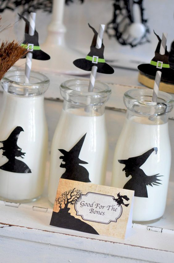 Silhouette Witch drinks for Halloween