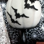 Spooktacular Halloween Party Ideas. Bat Halloween Pumpkin- B. Lovely Events