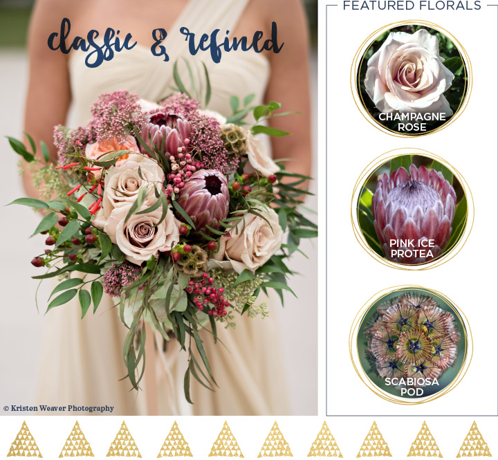 Classic and refined Beautiful Fall Wedding Bouquet