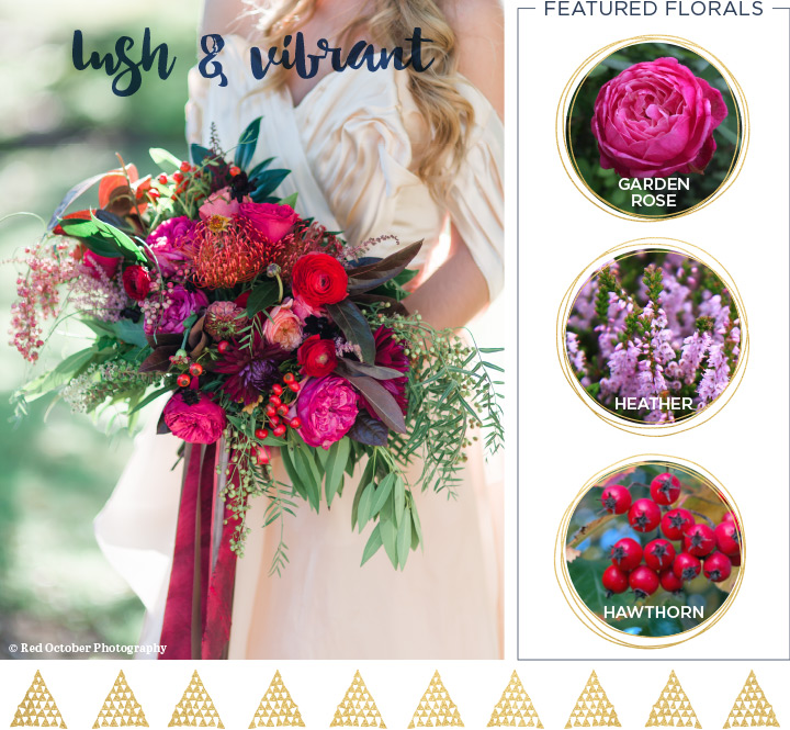 Lush And Vibrant Fall Wedding Bouquet