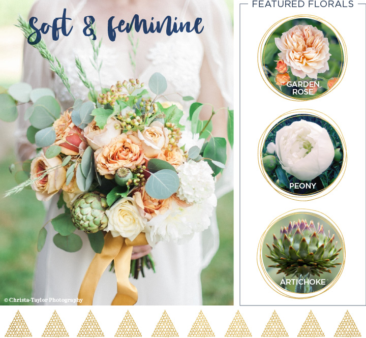 Soft and romantic Fall Wedding Bouquet