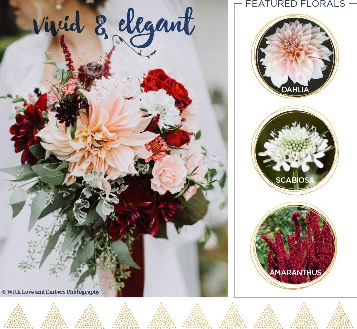 Wild and elegant Fall wedding bouquet