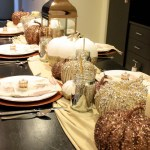 Fall Tablescape metallic lovlieness! - B. Lovely Events