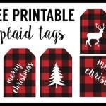 Buffalo Plaid Free printable tags- See More Buffalo Check Ideas on B. Lovely Events