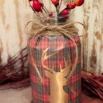 DIY Fall Mason Jars- Love the plaid! Learn How To Make Them on B. Lovely Events!