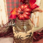 DIY Fall Mason Jar- Learn How To Make This On B. Lovely Events