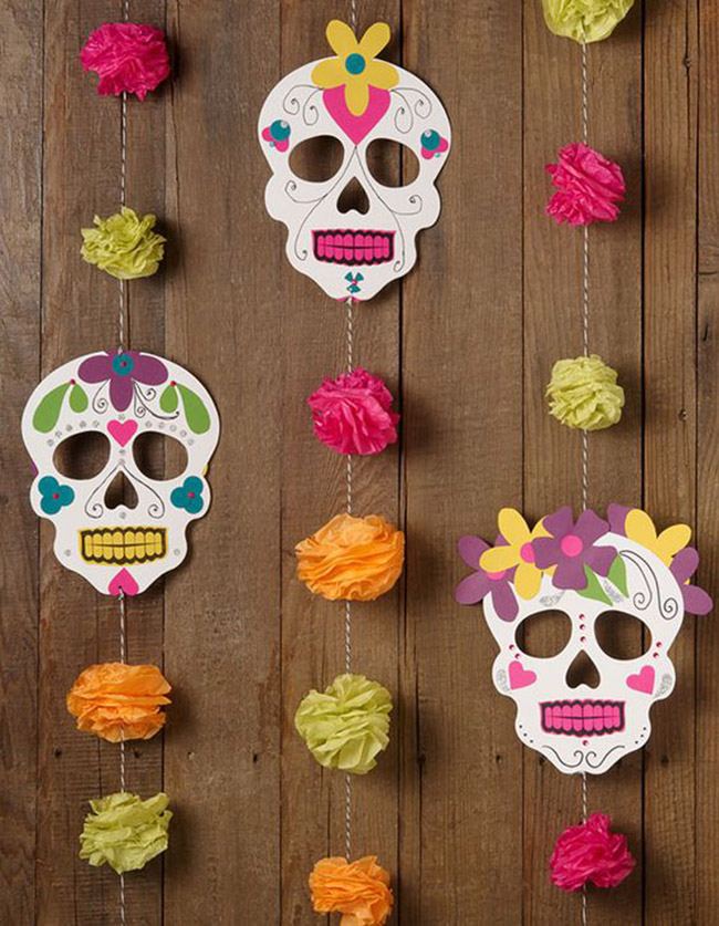 13 lovely dia de los muertos party ideas b lovely events for B day party decoration
