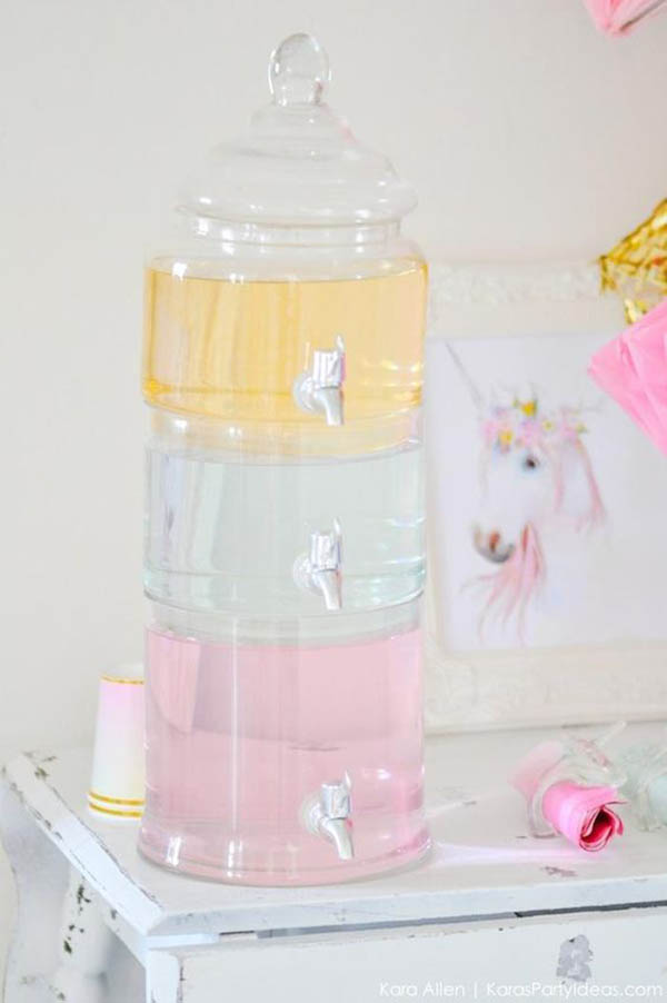 Unicorn Party Drinks- See more lovely Unicorn Party Ideas on B. Lovely Events