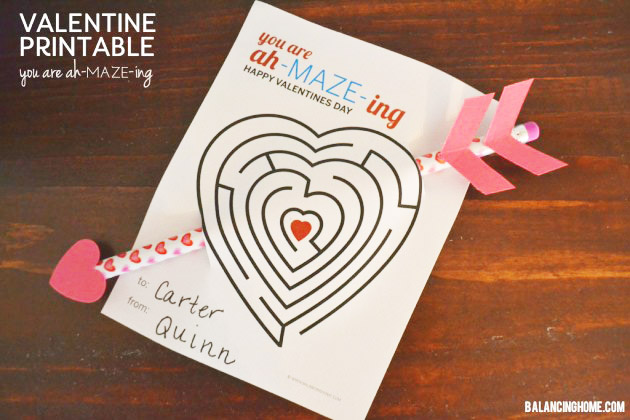 Maze And Pencil Valentines Day Cards- See all of the lovely Pencil Valentine's Day Cards on B. Lovely Events