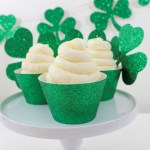 DIY St. Patrick's Day Green Cupcake Wrappers- B. Lovely Events