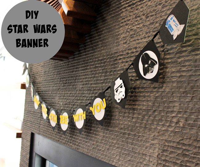 DIY May The 4th Be With You Star Wars Banner!