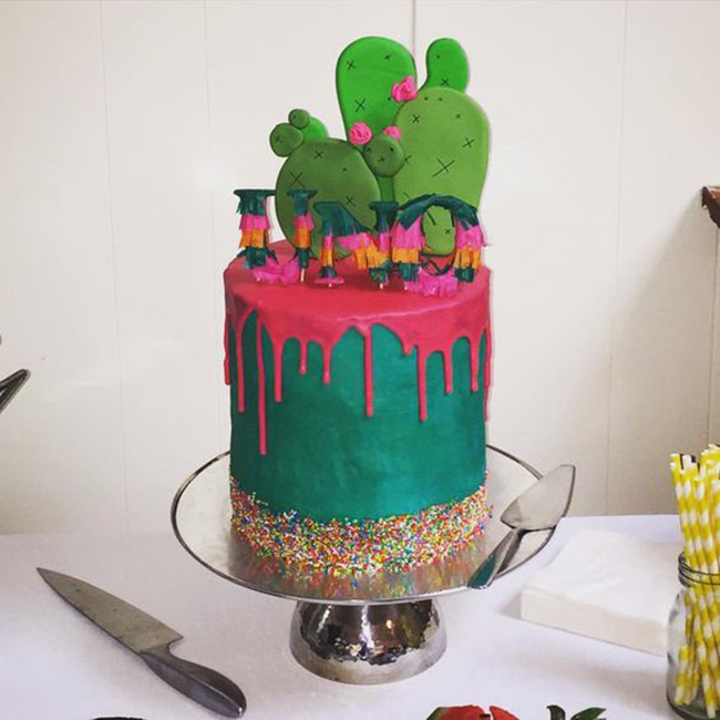 Love this fun fiesta cake!- see more fiesta cake ideas on B. Lovely Events