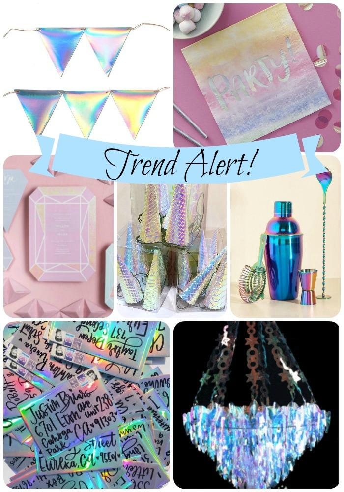 Trend Alert! Iridescent Holographic Parties!