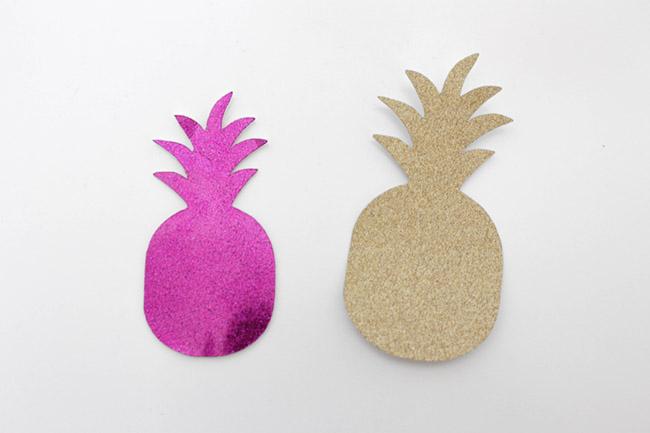 DIY Shimmer Pineapples- B. Lovely Events