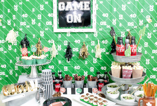 LOVELY football party ideas!-See more Football party details at B. Lovely Events