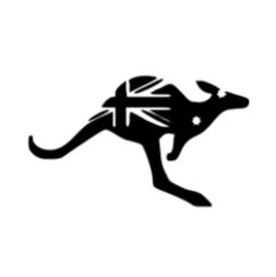 Kangaroo Australian Flag Template